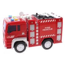 brandweerauto Firefighter jongens 18 cm rood