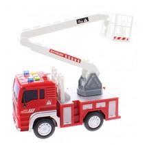 brandweerauto Firefighter jongens 18 cm rood/wit
