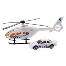 helikopter reddingsdienst diecast 18 cm wit 2-delig