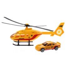 helikopter reddingsdienst diecast 18 cm geel 2-delig