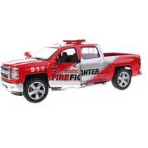 brandweerauto metaal rood 13 cm pullback