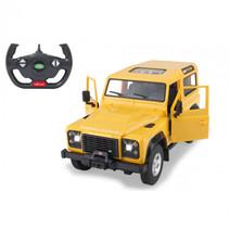 RC auto Land Rover Defender 29 cm 1:14 geel 2-delig