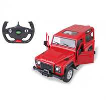 RC auto Land Rover Defender 29 cm 1:14 rood 2-delig