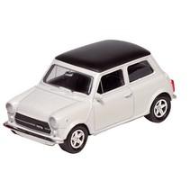 Metalen Mini Cooper 1300: Wit 7 cm