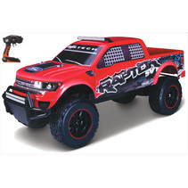 auto RC Ford F-150 SVT 1:16 junior rood 3-delig