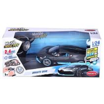 auto RC Bugatti Divo 1:24 zwart/blauw 2-delig