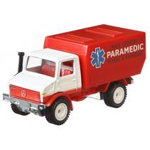 auto Mercedes Paramedic junior 1:64 rood/wit