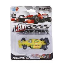 raceauto Formula jongens 8 cm diecast geel