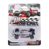 raceauto Formula jongens 8 cm diecast zilver