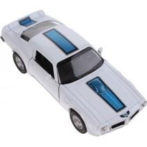 schaalmodel Pontiac 1972 Firebird 1:34 wit 11 cm