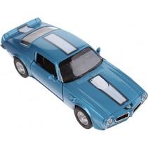 schaalmodel Pontiac 1972 Firebird 1:34 blauw 11 cm
