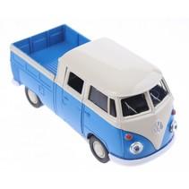 schaalmodel Volkswagen pick up bus blauw