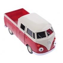 schaalmodel Volkswagen pick up bus rood