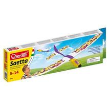 bouwset vliegtuig Saetta paars/geel