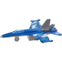 straaljager F-16 11 cm blauw