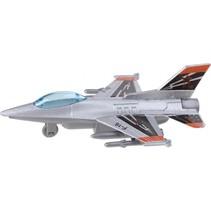 straaljager F-16 11,8 cm zilver