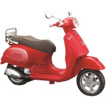 miniatuurscooter Vespa GTS 300 1:18 rood