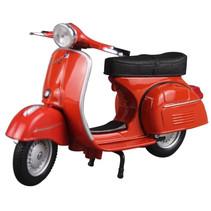 miniatuurscooter Vespa GTR 1:18 rood