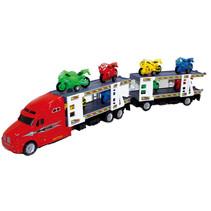 autotranssporter met motoren junior 53 cm rood 7-delig