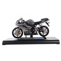 metalen motorminiatuur Triumph grijs 12 cm