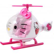 helikopter Hello Kitty meisjes 17,5 cm  wit/roze 4-delig