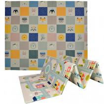 waterdichte speelmat foam 177 x 197 cm multicolor