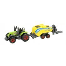 tractor cropcutter 16 cm lichtgroen/geel