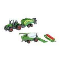 landbouwvoertuigen-set 16 cm 5-delig groen