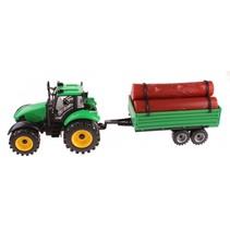 tractor met houtoplegger 45 cm frictie groen