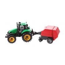 tractor met balenpers 29 cm groen