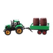 tractor met tonnen 29 cm groen