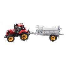 tractor met sproeier 29 cm rood