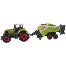 tractor met hakselaar groen 22 cm