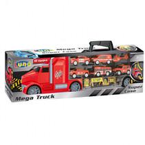 vrachtwagenkoffer Mega Truck jongens 42 rood 10-delig