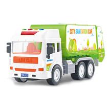 vuilniswagen junior 30 cm groen/wit