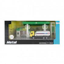 tankwagen met station junior staal groen/geel