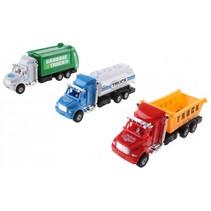vrachtwagenset 17 cm multicolor 3 stuks