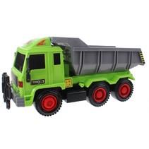 Construction Truck met kantelbak groen/grijs 42 cm