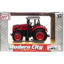 tractor Modern City pull back junior die-cast rood