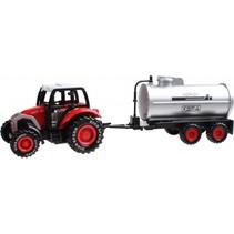 tractor met giertank 19 cm rood