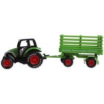 tractor met aanhanger 19 cm groen
