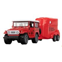 jeep off-road junior 4 cm metaal rood 2-delig
