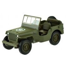 schaalmodel Jeep Willys MB 1:34 diecast groen 12 cm