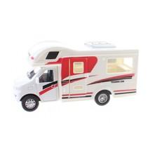 Touring Car camper 12,5 cm diecast wit/rood