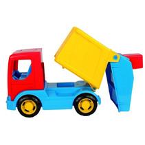 vuilniswagen junior 25 cm blauw/geel/rood