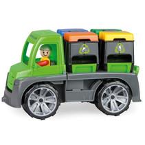 vuilniswagen Truxx jongens 28 x 16 cm groen/grijs 2-delig