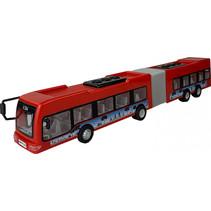 stadsbus Power Team 45 x 6 cm rood/grijs/zwart