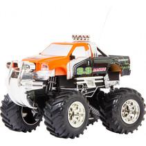 off-road truck mini junior 100 x 68 x 75 mm oranje 4-delig