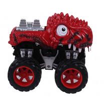 monstertruck dino junior 12 cm rood