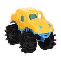 speelgoedauto monstertruck geel 12 cm